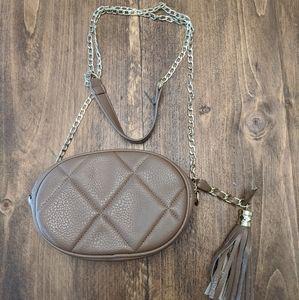 Madden Girl tan leather crossbody